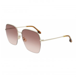 Sunglasses Enamel Square in Gold/Wine