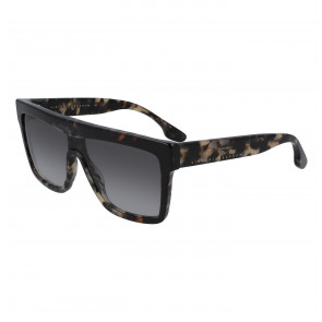 Sunglasses Flat Square in Grey/Tortoise
