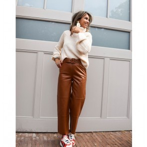 Leather Pants Storia Caramel Cafe