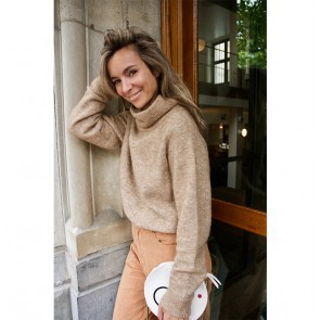 Knit Sweater Elbe Dark Beige