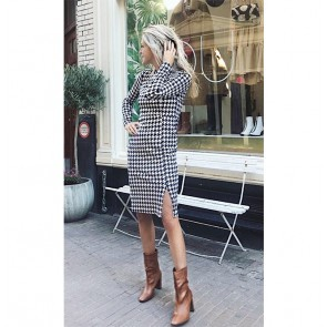 Dress Jaiden Night Sky Houndstooth