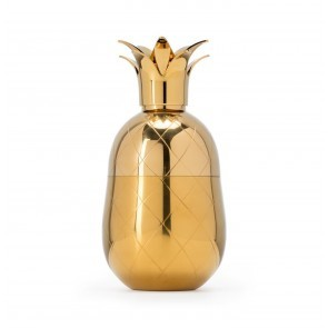 Pineapple Cocktail Shaker Gold