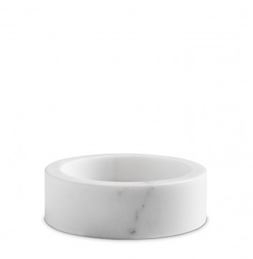 White marble candle holder small