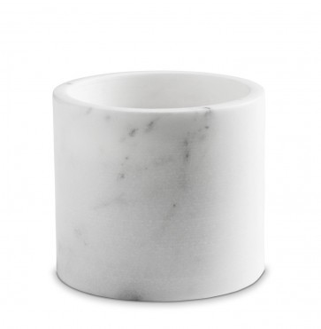 White marble candle holder large