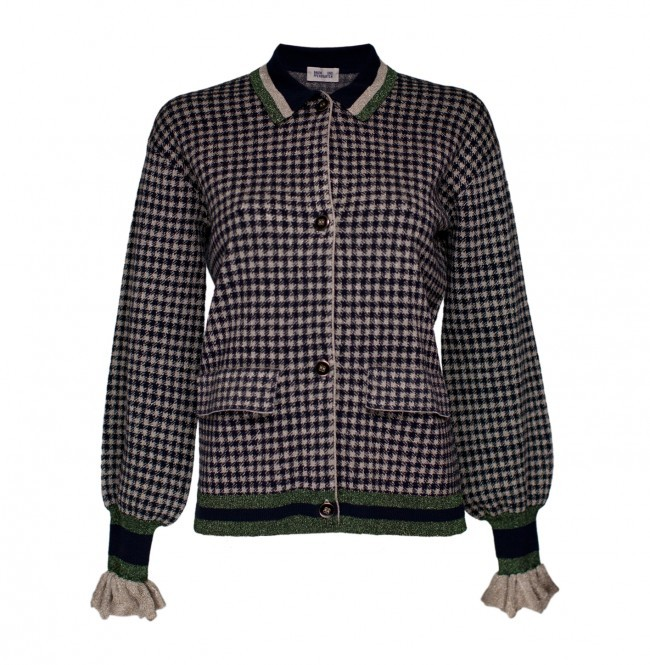 Cardigan Christie Gold Check - Cardigans - Sweaters & Cardigans ...