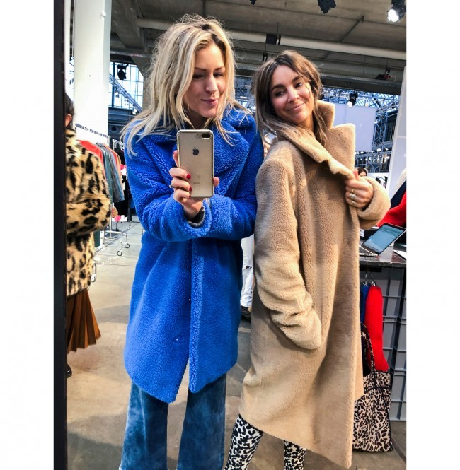 Teddy Cocoon Jas.Cocoon Coat Camille Electric Blue 50 Sale