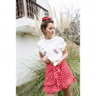 Skirt Villa Artemis Red Flower