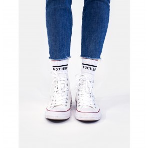 Socks One Small Step for Mankind White/Black