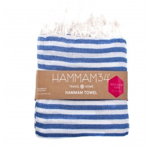 Hammam Towel Succulent Love Blue