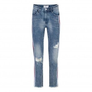 Jeans Straight Leg Blue Society