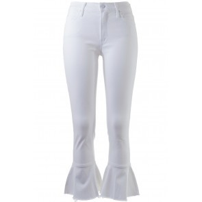 Jeans Cha Cha Fray White