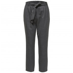 Cropped Wool Pant Bio Medium Grey Melange