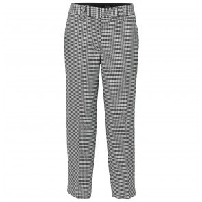 Cropped Pants Holla Black White Houndstooth