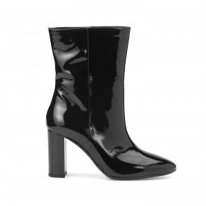 Heeled Boots Black Patent Leather