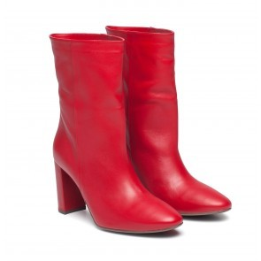 Heeled Boots Red Leather