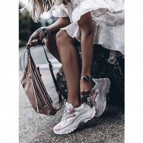Sneakers Addict White Pink