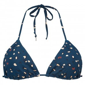 Triangle Bikini Top Leopard Ink Blue