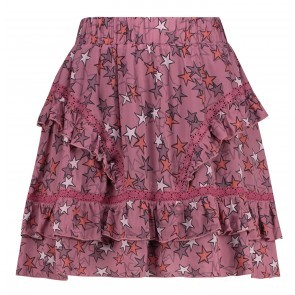 Skirt Frill Star Deco Rose