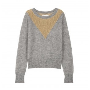 Knit Sweater Machou Gold Grey