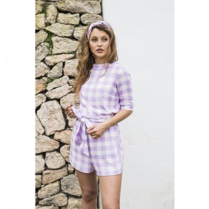 Shorts Canellopoulos Lilac White Checkered