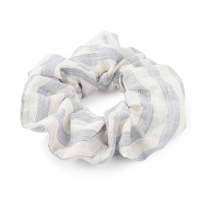 Scrunchie Jackie Blue White Stripes