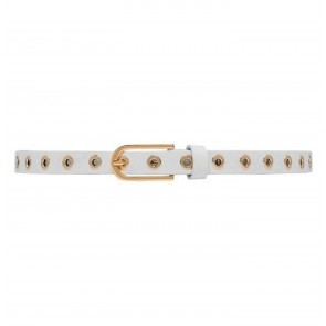 Narrow Belt Studs White