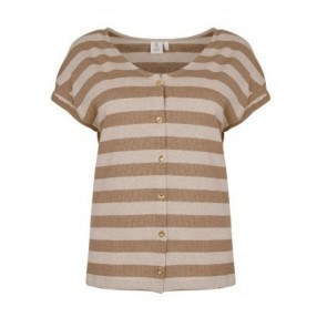 Holly Top Praline Stripe