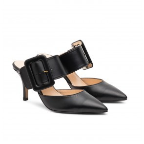 The Gloria Belt Pump Black