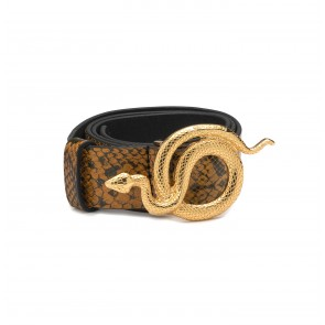 Leather Belt Milo Autumn Snake