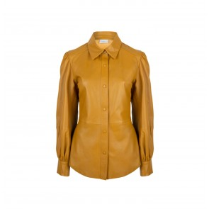 Leather Blouse Becky Honey Gold