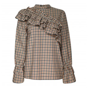 Blouse Moya Brown Check