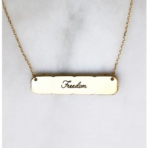 Necklace Freedom Bar Gold