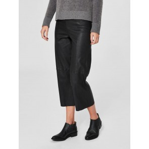 Cropped Leather Pants Anna Black