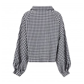 Blouse Check Mate Black/White