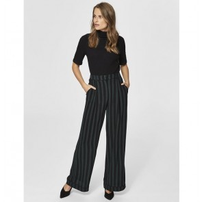 Maxi Pants Florenta Black Scarab Stripes