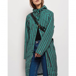 Raincoat Magpie Striped Pepper Green