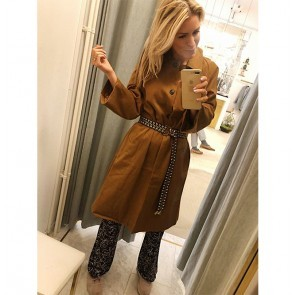 Riding Coat Travel Camel with Belt