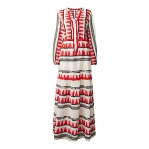 Long Dress Zakar With Embroidery Red