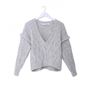 Vintage Pullover Wool Light Grey
