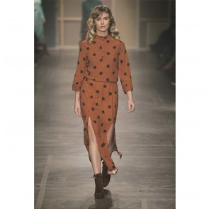 Dress Damaris Studio Star Print Cognac