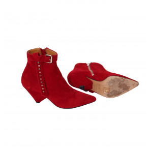 Vintage Ankle Boot Red