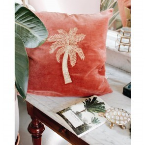Cushion Cover Makkamalee Velvet Pink