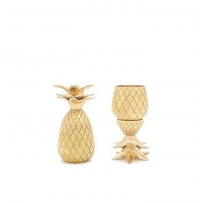 Pineapple Shot Glasses Gold (set of 2)