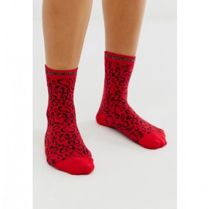 Socks Hani Red Animal