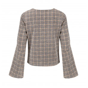 Top Houndstooth Brown/Beige